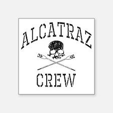 """Alcatraz Crew Square Sticker 3"""" x 3"""""""