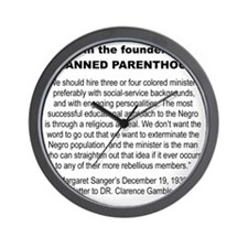 FROM THE FOUNDER OF PLANNED PARENTHOOD. Wall Clock