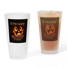 Halloween ObamaCare Drinking Glass