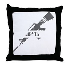 Army Combatives Finish The Fight Grey Throw Pillow