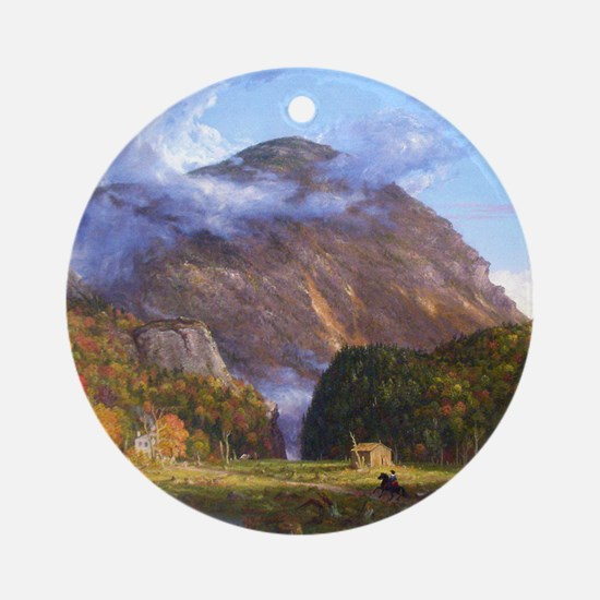 Thomas Cole A View Of The Mountain  Round Ornament