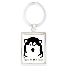 Talk to the paw Portrait Keychain