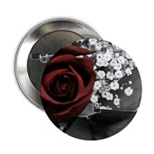 """My Love is like a Red, Red, Rose... 2.25"""" Button"""