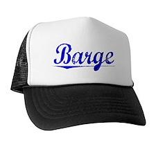 Barge, Blue, Aged Trucker Hat