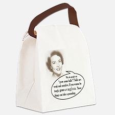 Grow a vagina! Canvas Lunch Bag
