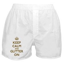Keep Calm And Glitter On Boxer Shorts
