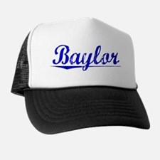 Baylor, Blue, Aged Trucker Hat