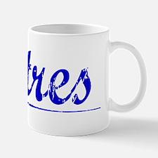 Batres, Blue, Aged Mug