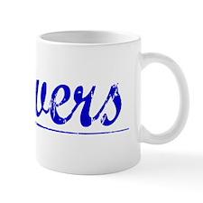 Beavers, Blue, Aged Mug