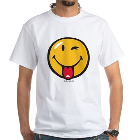 Smileyworld Playful White T-Shirt