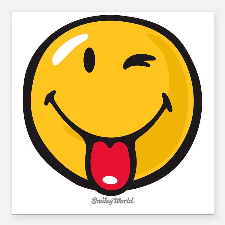 """Smileyworld Playful Square Car Magnet 3"""" x 3"""""""