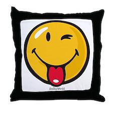 Smileyworld Playful Throw Pillow