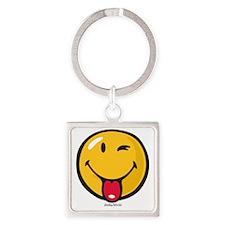 Smileyworld Playful Square Keychain