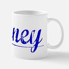 Birney, Blue, Aged Mug