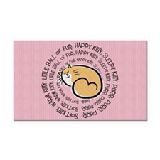 Sing Soft Kitty Rectangle Car Magnet