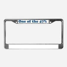 One of the 47% License Plate Frame