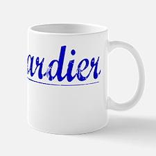 Bombardier, Blue, Aged Mug
