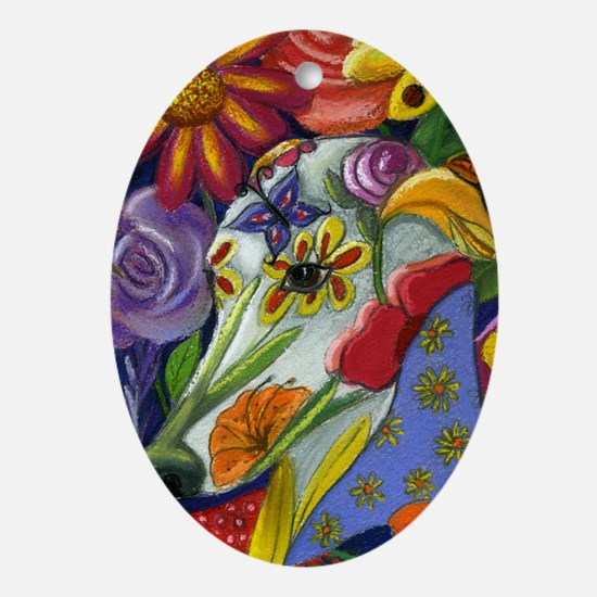 Flora Pastel Oval Ornament
