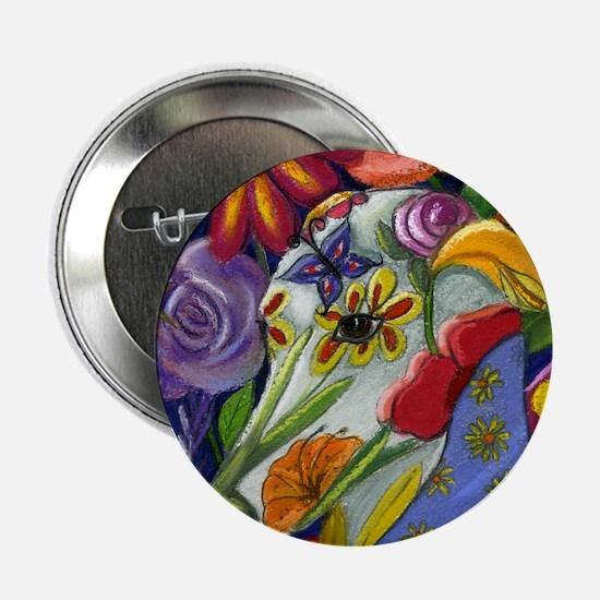 """Flora Pastel 2.25"""" Button"""