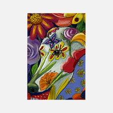 Flora Pastel Rectangle Magnet