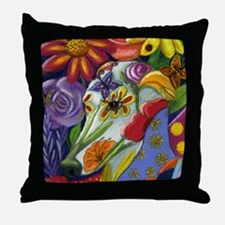 Flora Pastel Throw Pillow