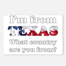 Im from Texas Postcards (Package of 8)
