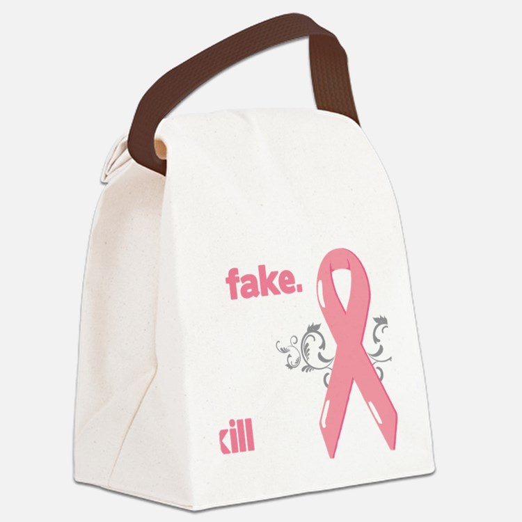 yes, theyre fake Canvas Lunch Bag