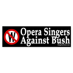 Opera Singers Against Bush (sticker)