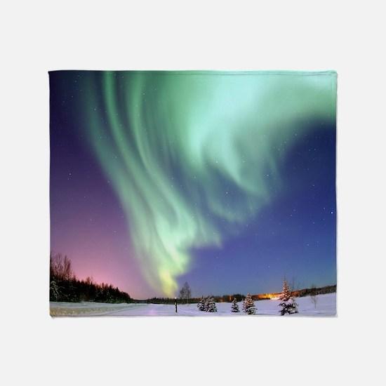Alaska Aurora Throw Blanket