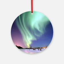 Alaska Aurora Round Ornament