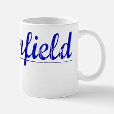 Brownfield, Blue, Aged Mug