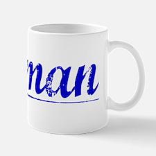 Borman, Blue, Aged Mug