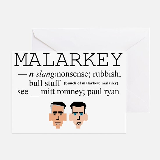 Malarkey Greeting Card
