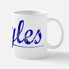 Boyles, Blue, Aged Mug