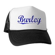 Burley, Blue, Aged Trucker Hat