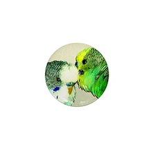 Parakeet whisperer, green Mini Button