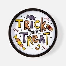 Trick Or Treat Wall Clock