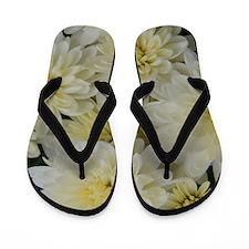 Yellow Mums Shower Curtain Flip Flops