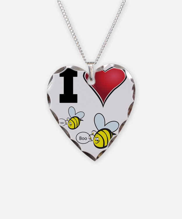 I Love Boo Bees Necklace
