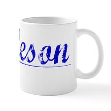 Burleson, Blue, Aged Mug