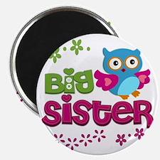 Cute Owl Big Sister Magnet