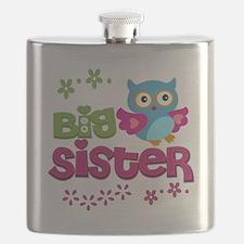 Cute Owl Big Sister Flask