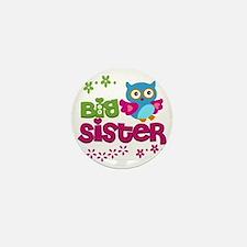 Cute Owl Big Sister Mini Button