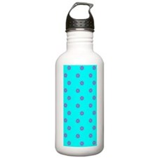 Pink Blue Floral Simpa Water Bottle