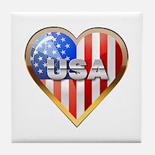 US Heart - Glow Tile Coaster