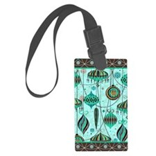 Green Tint Ornaments Luggage Tag