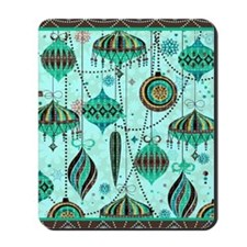 Green Tint Ornaments Mousepad