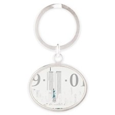 Never Forget (4blk) Oval Keychain