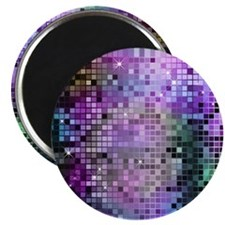 Disco Mirrors in Purple and Green Magnet