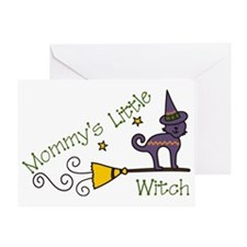 Mommys Little Witch Greeting Card